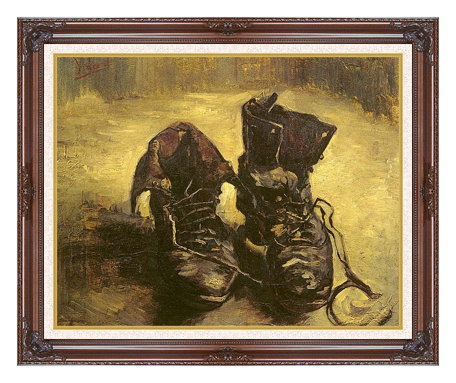 Vincent van Gogh A Pair of Shoes 1886 with Dark Regal Frame w/Liner