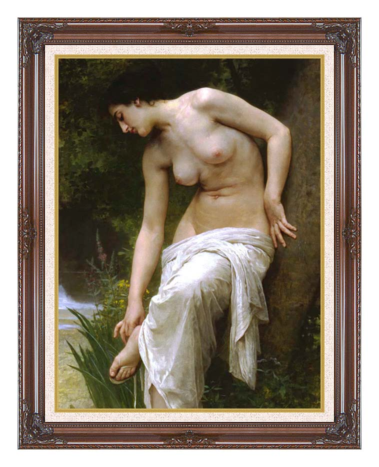 William Bouguereau Woman After the Bath with Dark Regal Frame w/Liner