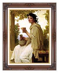 William Bouguereau Bacchante canvas with dark regal wood frame