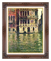 Claude Monet Palazzo Dario canvas with dark regal wood frame