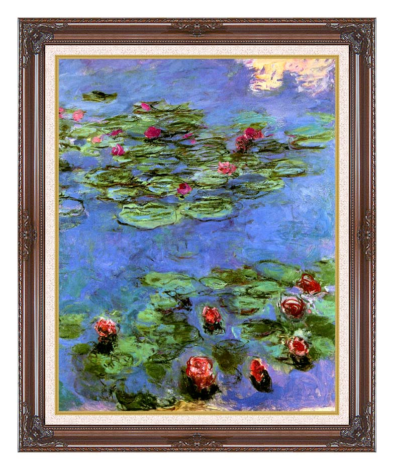 Claude Monet Water-Lilies 1914 with Dark Regal Frame w/Liner