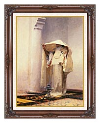 John Singer Sargent Fumee Dambre Gris canvas with dark regal wood frame