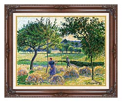 Camille Pissarro Bountiful Harvest canvas with dark regal wood frame