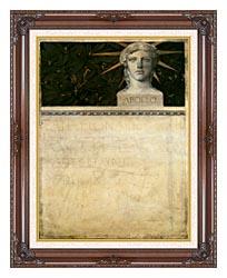 Gustav Klimt Poster Design International Exhibition canvas with dark regal wood frame