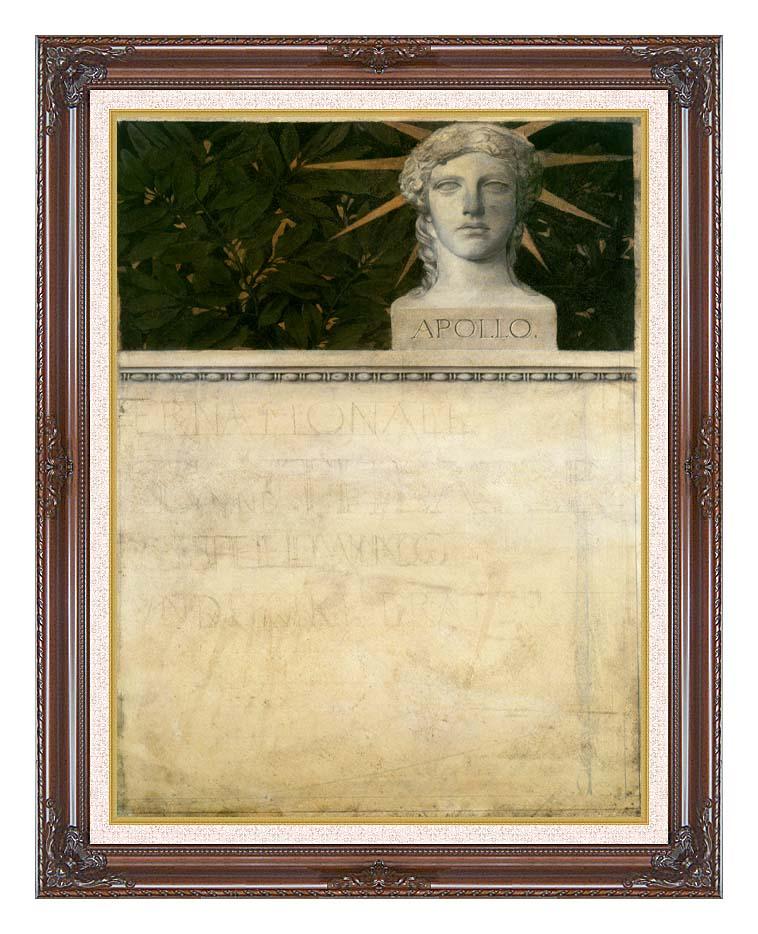 Gustav Klimt Poster Design, International Exhibition with Dark Regal Frame w/Liner