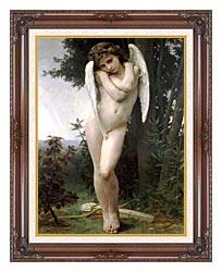 William Bouguereau Cupidon canvas with dark regal wood frame