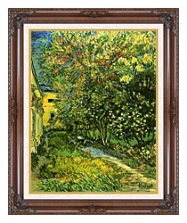 Vincent Van Gogh The Garden Of Saint Paul Hospital canvas with dark regal wood frame