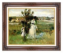 Berthe Morisot Hide And Seek canvas with dark regal wood frame