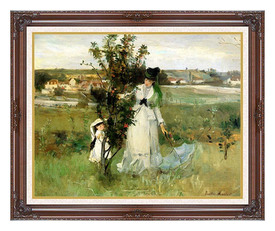 Berthe Morisot Hide and Seek with Dark Regal Frame w/Liner