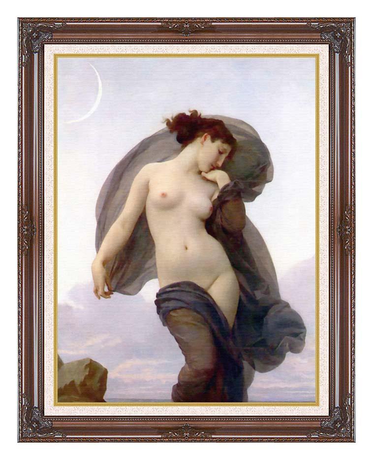 William Bouguereau Evening Mood with Dark Regal Frame w/Liner