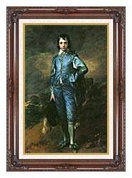 Thomas Gainsborough The Blue Boy canvas with dark regal wood frame