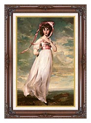 Thomas Lawrence Pinkie canvas with dark regal wood frame