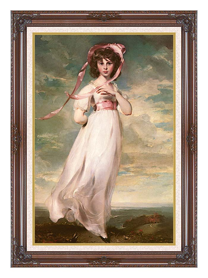 Thomas Lawrence Pinkie with Dark Regal Frame w/Liner