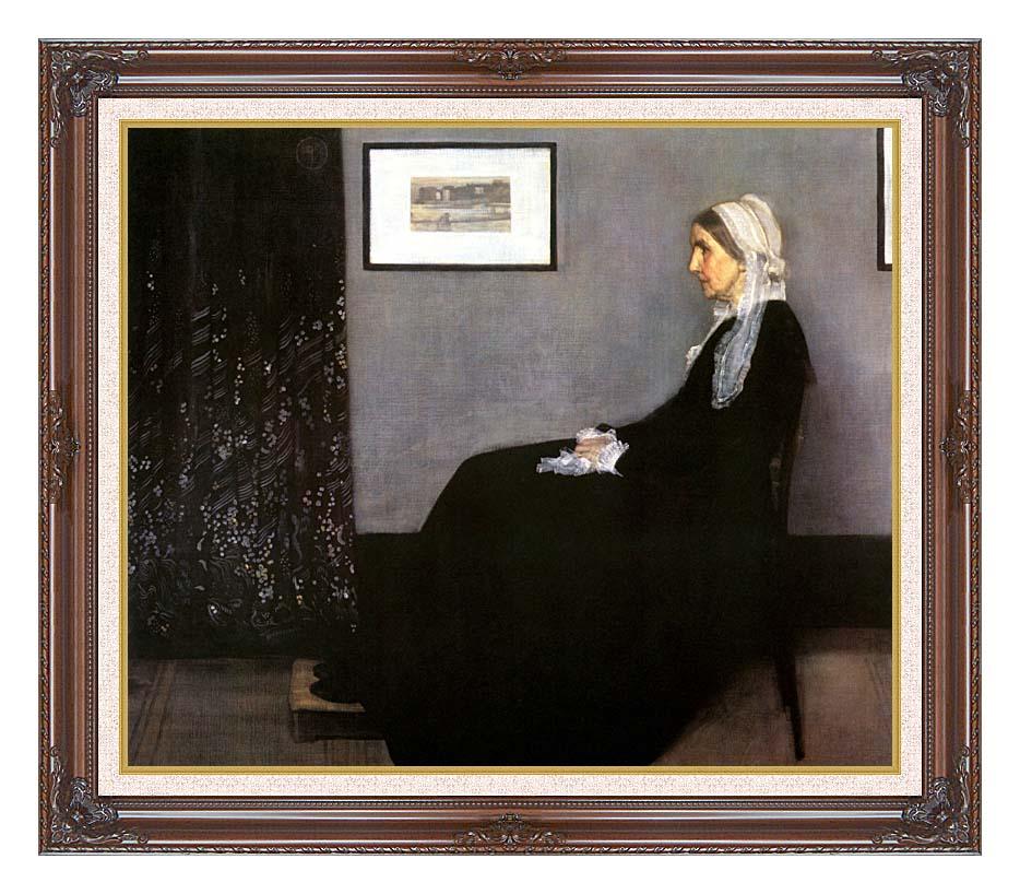 James Abbott McNeill Whistler Arrangement in Grey and Black: Portrait of the Artist's Mother with Dark Regal Frame w/Liner