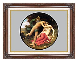 William Bouguereau Flora And Zephyr canvas with dark regal wood frame
