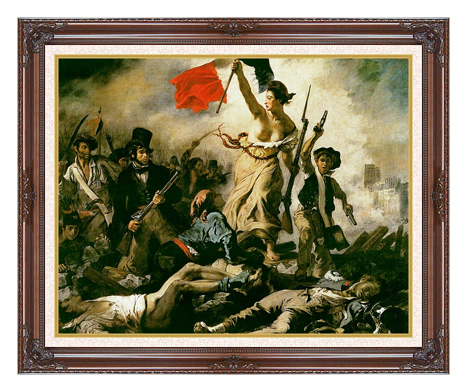 Eugene Delacroix Liberty Leading the People with Dark Regal Frame w/Liner