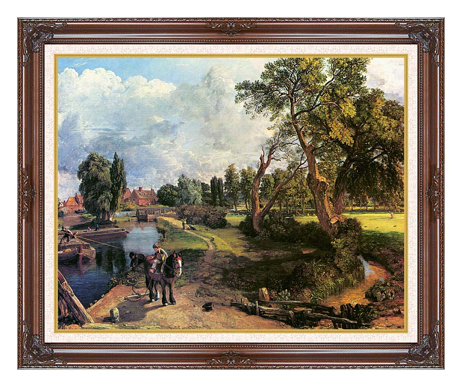 John Constable Flatford Mill, on the River Stour with Dark Regal Frame w/Liner
