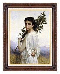 William Bouguereau Laurel Branch canvas with dark regal wood frame