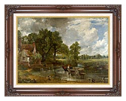 John Constable The Hay Wain canvas with dark regal wood frame