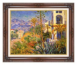 Claude Monet Villas At Bordighera canvas with dark regal wood frame