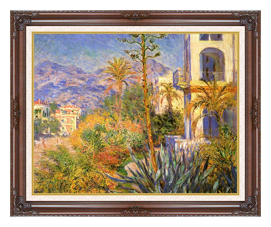 Claude Monet Villas at Bordighera with Dark Regal Frame w/Liner