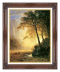 Albert Bierstadt Hetch Hetchy Canyon canvas with dark regal wood frame