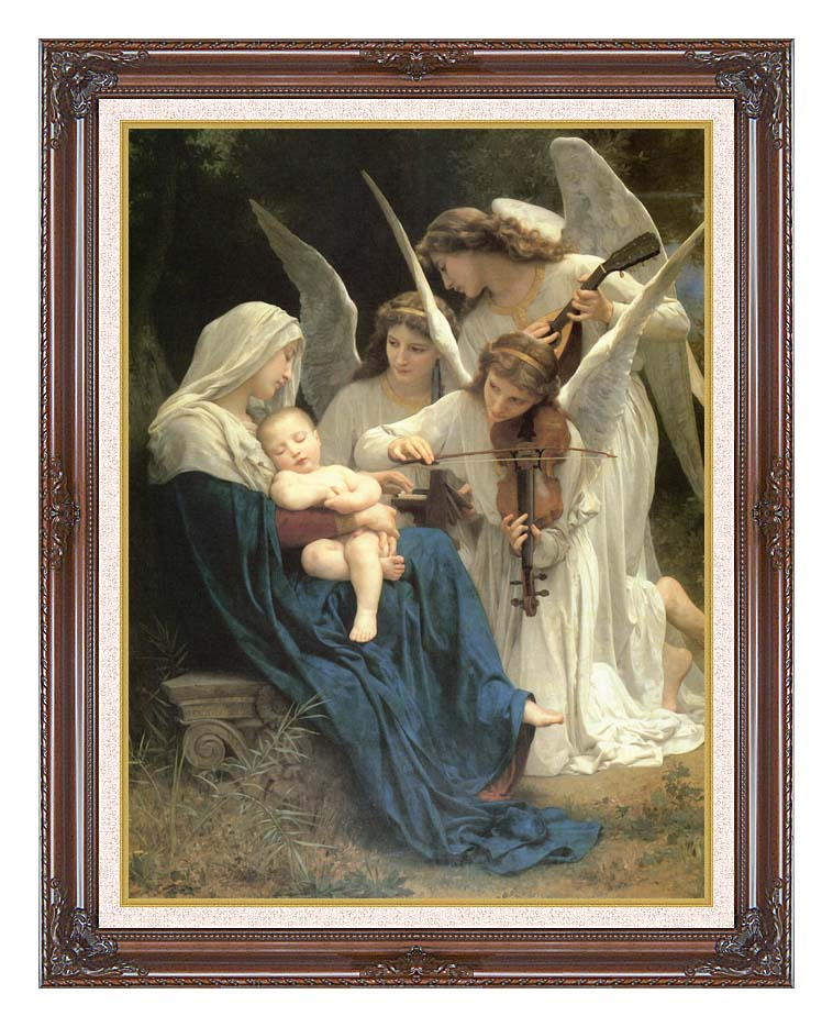 William Bouguereau Song of the Angels with Dark Regal Frame w/Liner