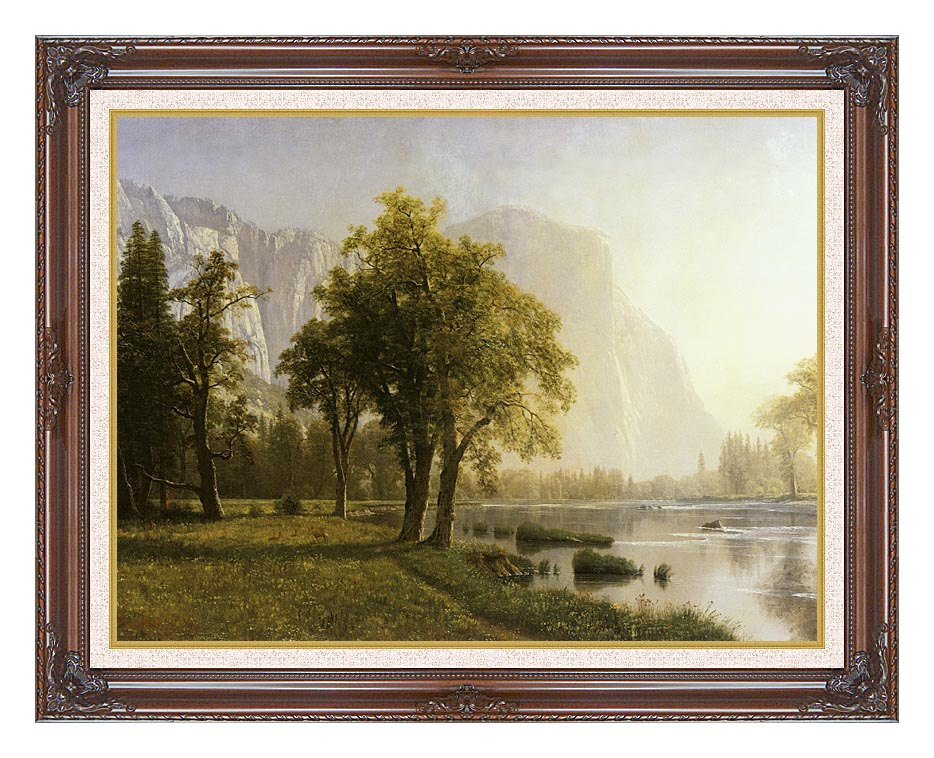 Albert Bierstadt El Capitan, Yosemite Valley, California with Dark Regal Frame w/Liner