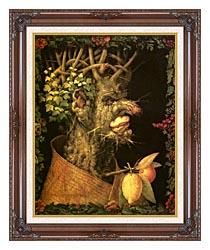Giuseppe Arcimboldo Winter canvas with dark regal wood frame