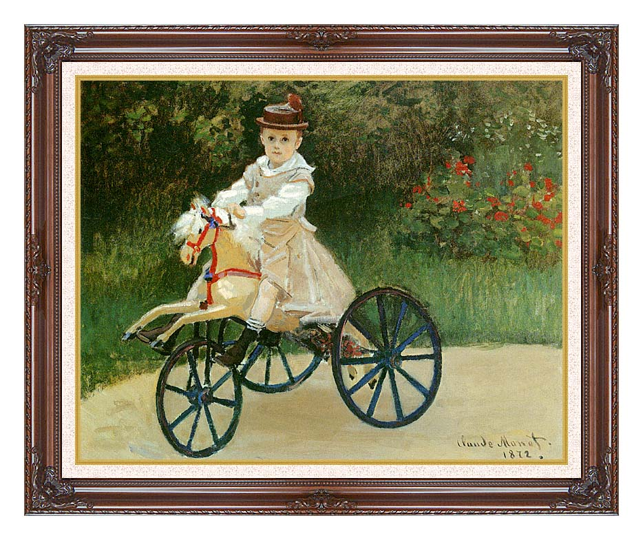 Claude Monet Jean Monet on his Horse Tricycle with Dark Regal Frame w/Liner