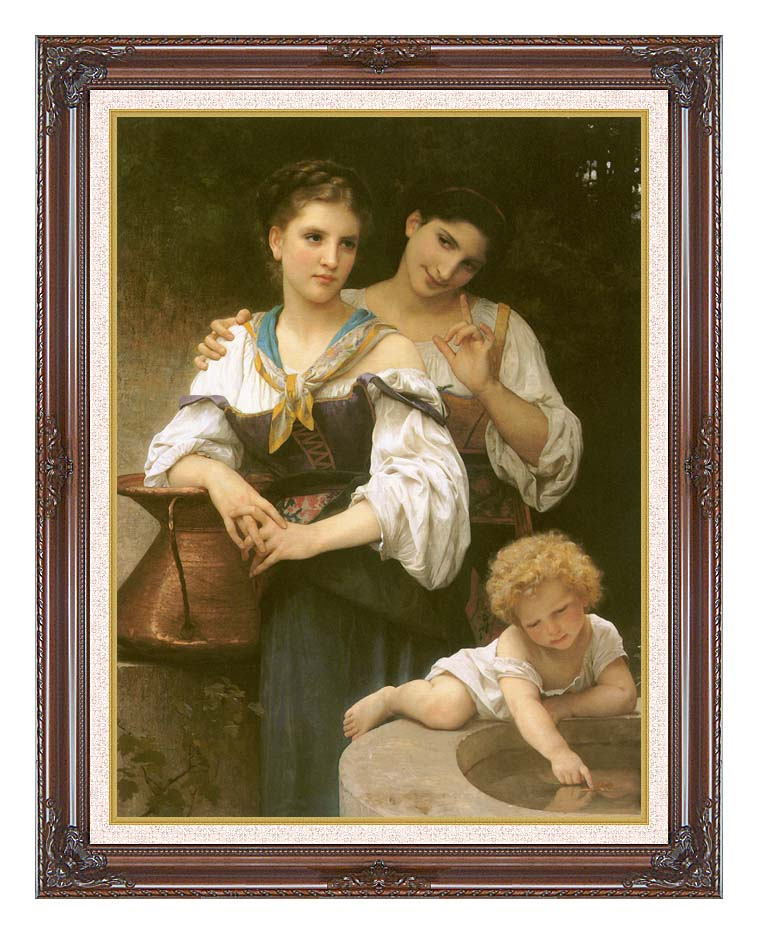 William Bouguereau The Secret with Dark Regal Frame w/Liner