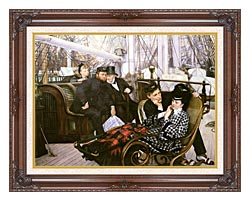 James Tissot The Last Evening canvas with dark regal wood frame