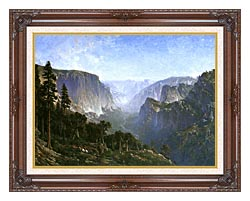Thomas Hill Yosemite Valley canvas with dark regal wood frame