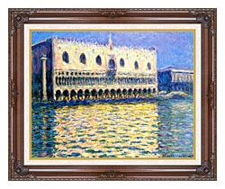 Claude Monet Palazzo Ducale canvas with dark regal wood frame