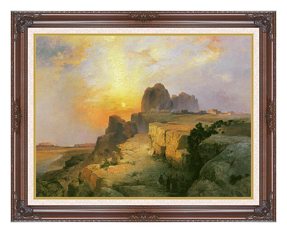 Thomas Moran Hopi Village, Arizona with Dark Regal Frame w/Liner
