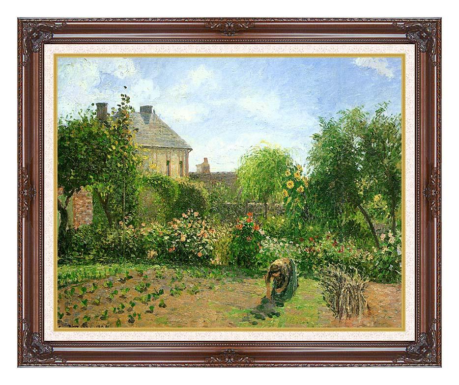 Camille Pissarro The Artist's Garden at Eragny 1898 with Dark Regal Frame w/Liner