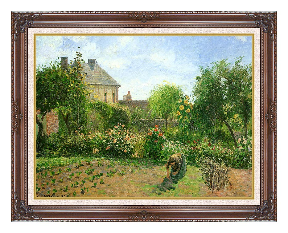 Camille Pissarro The Artist's Garden at Eragny with Dark Regal Frame w/Liner
