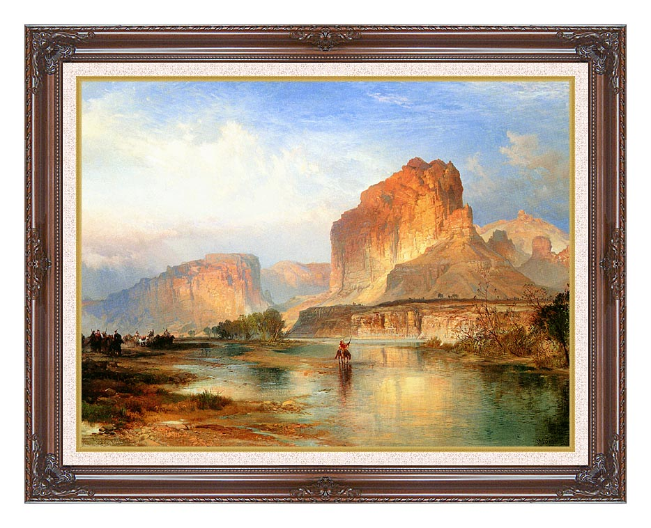 Thomas Moran Cliffs of Green River with Dark Regal Frame w/Liner