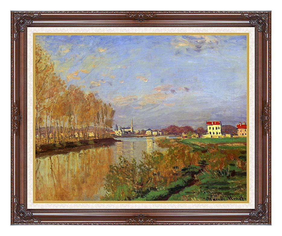Claude Monet The Seine at Argenteuil (Vanilla Sky) with Dark Regal Frame w/Liner