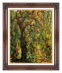 Claude Monet Weeping Willow 1919 Detail canvas with dark regal wood frame