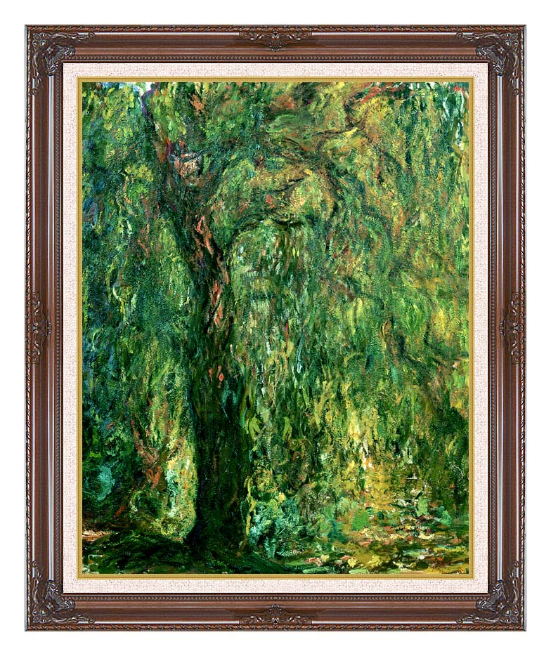 Claude Monet Weeping Willow (detail) with Dark Regal Frame w/Liner