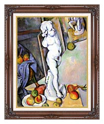 Paul Cezanne Still Life With Plaster Cast canvas with dark regal wood frame