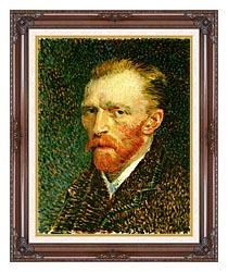 Vincent Van Gogh Self Portrait canvas with dark regal wood frame