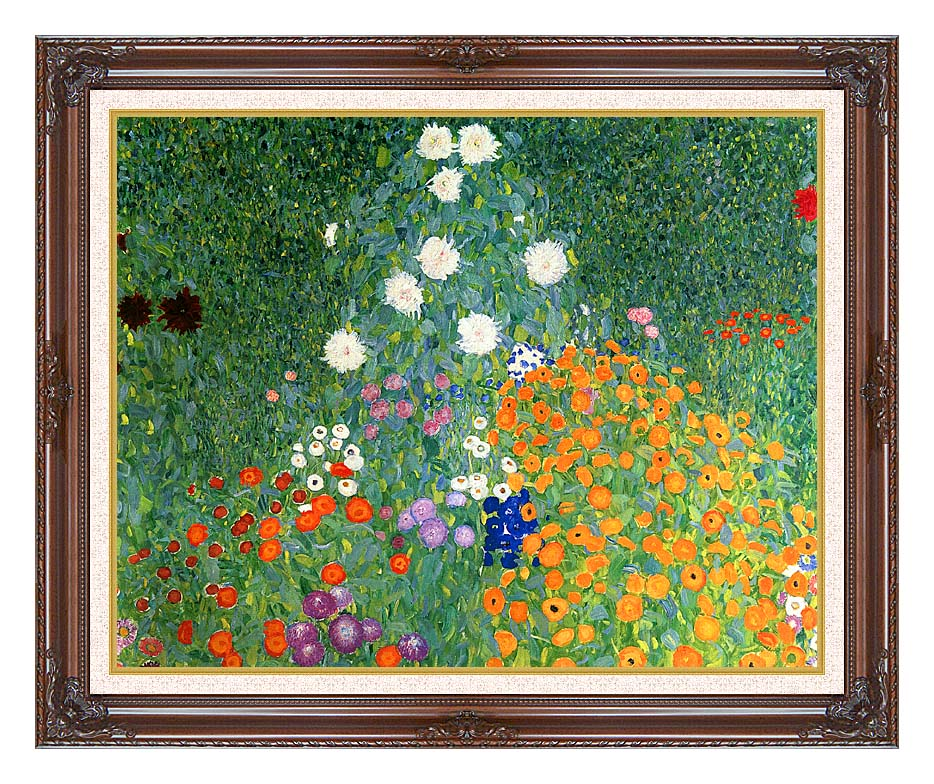 Gustav Klimt Farm Garden (detail) with Dark Regal Frame w/Liner