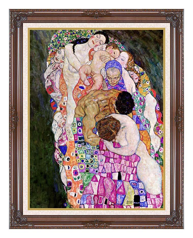 Gustav Klimt Death and Life (Life detail) with Dark Regal Frame w/Liner