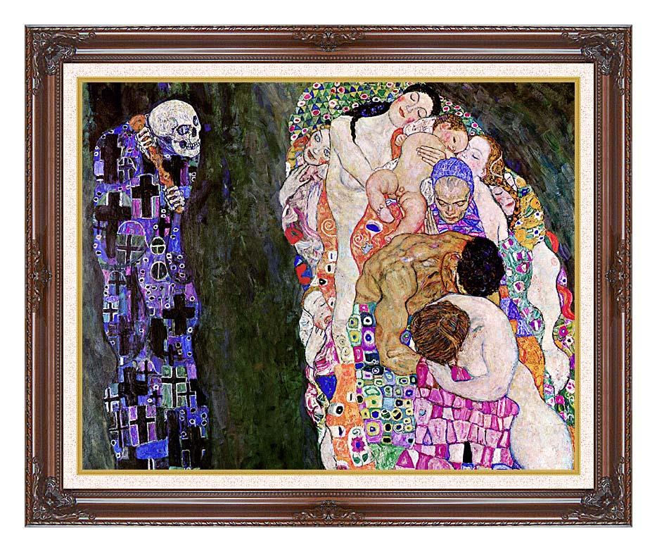 Gustav Klimt Death and Life (detail) with Dark Regal Frame w/Liner