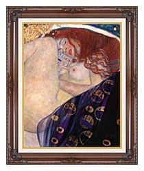 Gustav Klimt Danae 1907 8 Detail canvas with dark regal wood frame