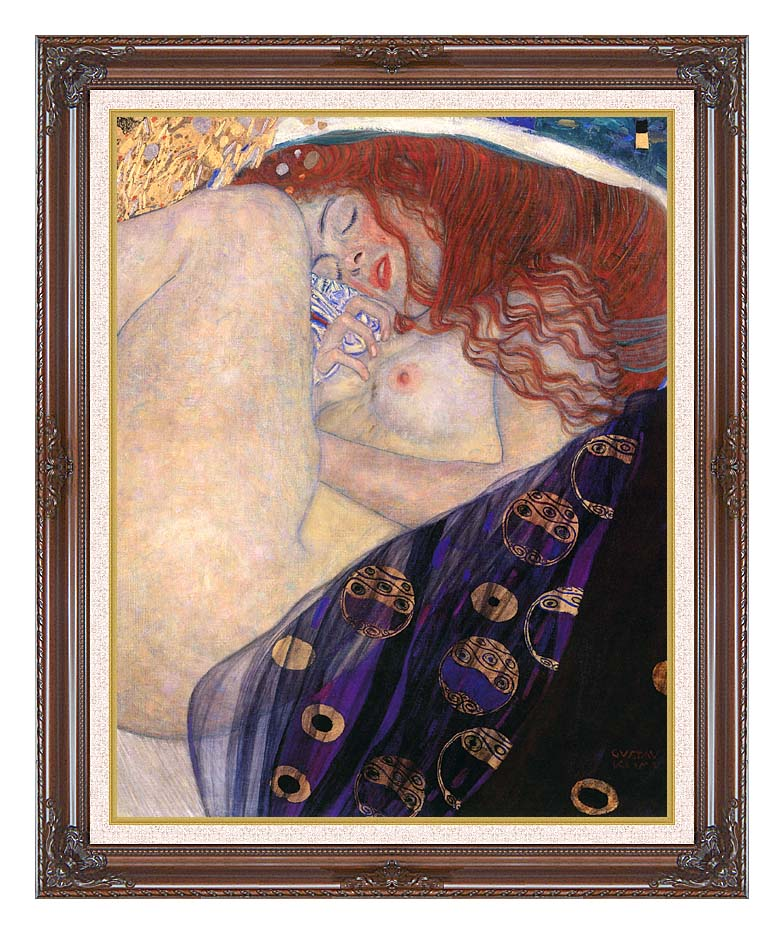 Gustav Klimt Danae 1907-8 (detail) with Dark Regal Frame w/Liner