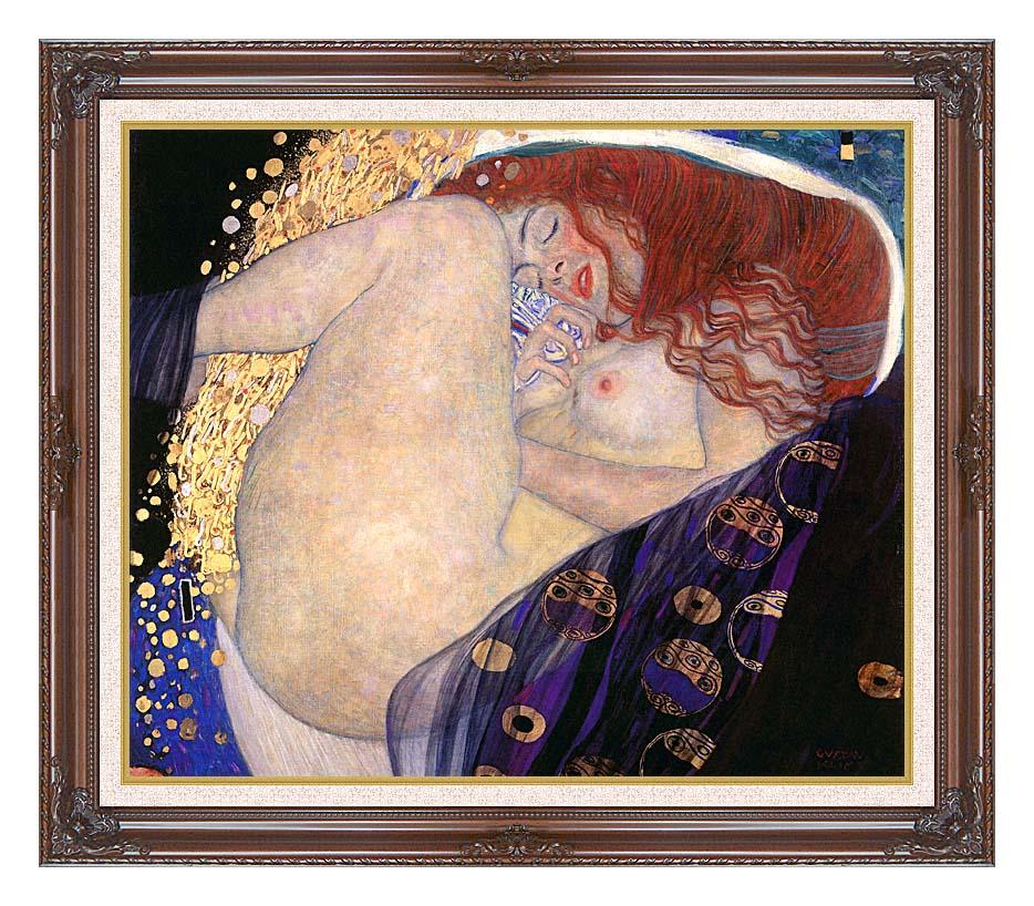 Gustav Klimt Danae with Dark Regal Frame w/Liner