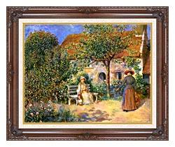 Pierre Auguste Renoir Garden Scene In Brittany canvas with dark regal wood frame